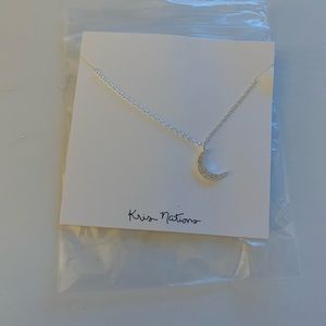 Kris Nations Jewelry - Silver Moon Necklace